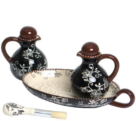 Temp-tations Floral Lace Oil & Vinegar Set