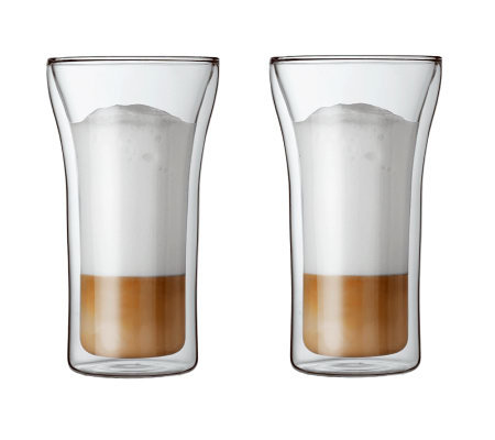 Bodum Assam Set of 2 Double Wall Glasses, 13.5oz