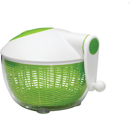 Starfrit Green & White Salad Spinner