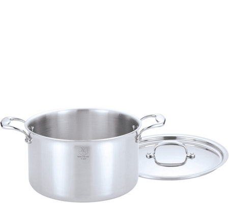 Hammer Stahl Stainless Steel Clad 8-qt CoveredStock Pot