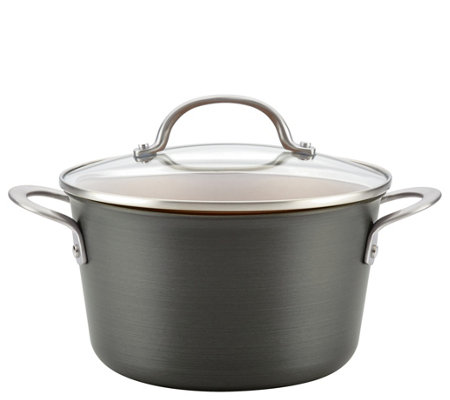 Ayesha Curry 4.5-qt Hard-Anodized Aluminum Covered Sauce Pot