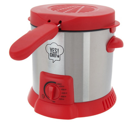 Yes Chef! 1 Liter Compact Snack Deep Fryer
