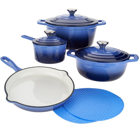 Cook's Essentials 7-pc. Gradient Cast Iron Cookware Set