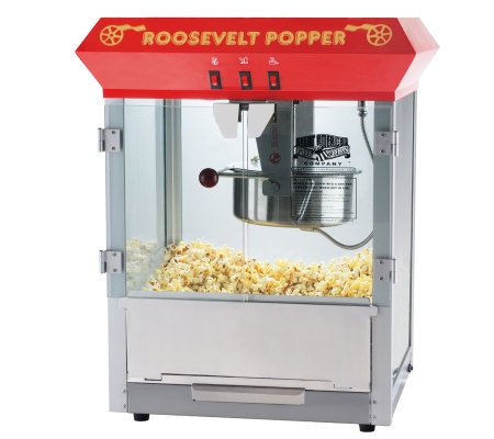 Red Roosevelt 8-oz Antique-Style Popcorn Machine