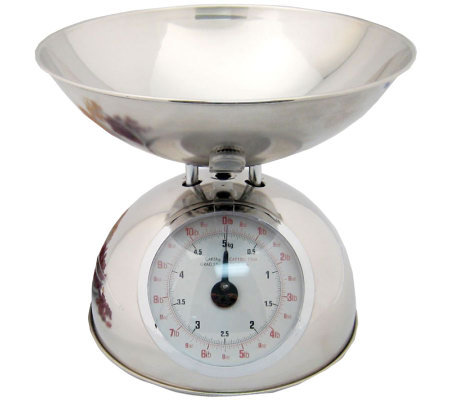 Starfrit Analog Kitchen Scale w/ Stainless Steel Bowl — QVC com