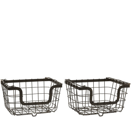 Gourmet Basics by Mikasa General Store S/2 Nesting Baskets