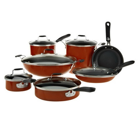 """As Is"" Emeril by All-Clad 13 pc. Hard Enamel Cookware Set"