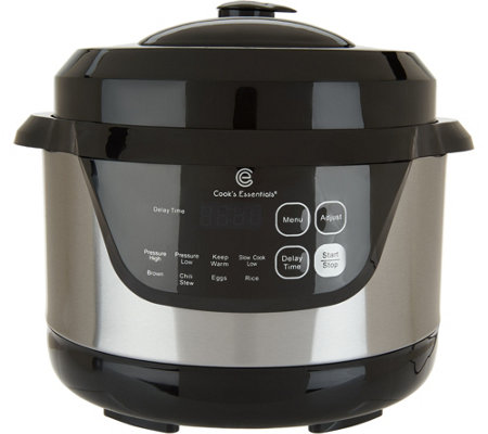 """As Is"" Cook's Essentials 2qt Digital Stainless Steel Pressure Cooker"
