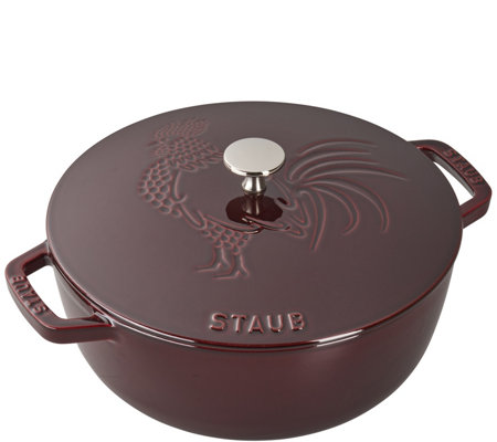 Staub Cast-Iron 3.75-qt Essential French Oven Rooster Lid