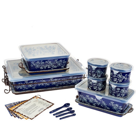 Temp-tations Floral Lace 16-pc Essential Oven-to-Table Set