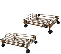 Set of 2 Expandable Storage Organizers with Wheels - K46476