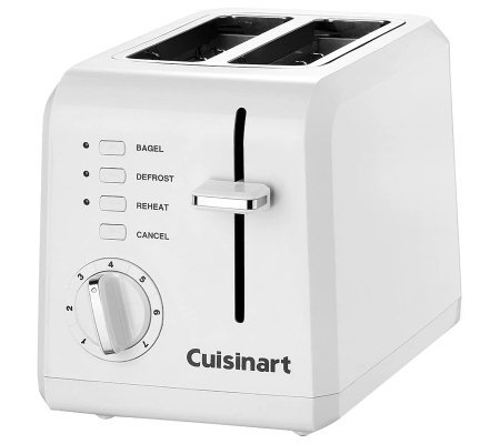 Cuisinart 2-Slice Compact Plastic Toaster - White