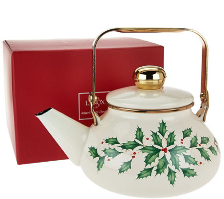 Lenox Holiday Tea Kettle in Gift Box
