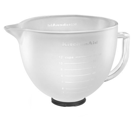 KitchenAid 5-qt Tilt Head Frosted Glass Bowl