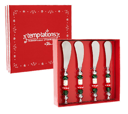 Temp-tations Set of 4 Spreaders with Beaded Handle