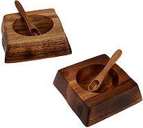 Rachael Ray Salt Holders with Spoons - K43879