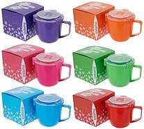 Sistema Set of 6 Jumbo 30-oz Microwave Mug Set with Gift Boxes - K48079