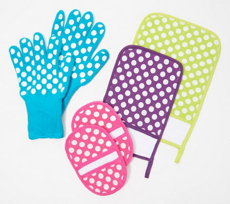 Temp-tations 6-Piece Glove, Mitt and Trivet Set