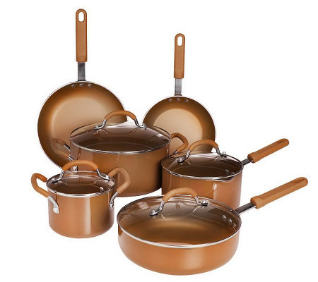 Cook'sEssential Color Smart 11-pc. Aluminum Nonstick Cookware Set