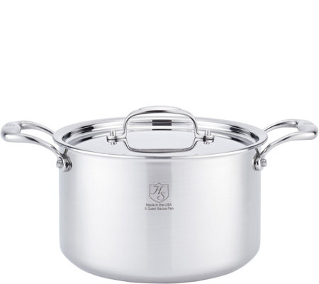 Hammer Stahl Stainless Steel Clad 5-qt CoveredStock Pot