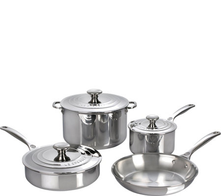 Le Creuset Stainless Steel 7-Piece Cookware Set