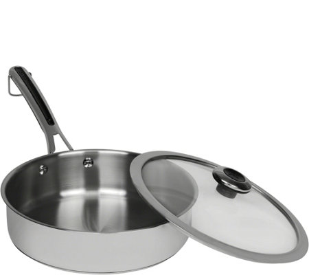 Revere Stainless Steel Copper Core 3-qt Saute Pan with Lid