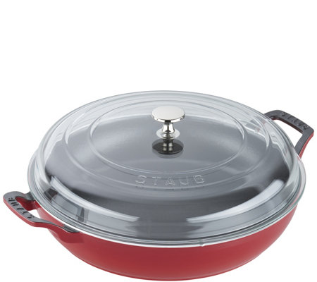 Staub Cast-Iron 3.5-qt Braiser with Glass Lid