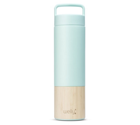 Welly 18-oz Traveler Double-Wall Insulated Bamboo Water Bottle