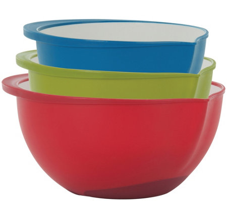 Trudeau Set of 3 Mixing Bowls - Two-Tone
