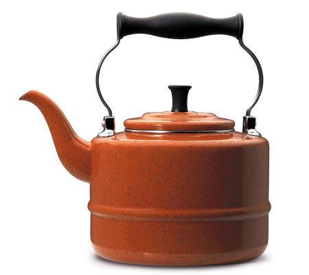 Paula Deen 2 Qt Enamel On Steel Teakettle Orange