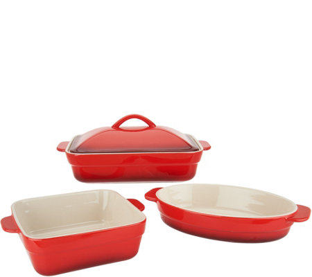 Cook's Essentials Gradient 3-Pc Ceramic Bake & Serve Set