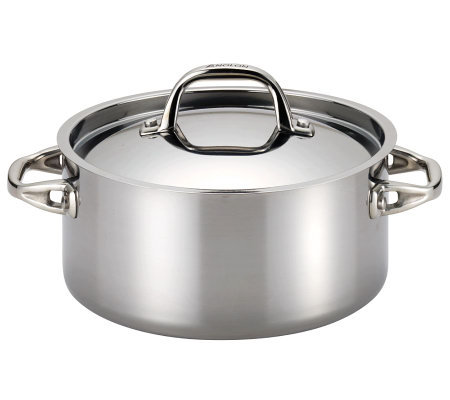 Anolon Tri-Ply Clad Stainless Steel 5-qt Covered Dutch Oven