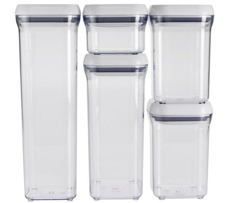 OXO Good Grips 5-Piece POP Container Set - White