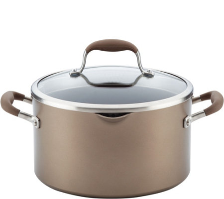 Anolon Advanced 6 Quart Hard Anodized Nonstickstockpot W Lid