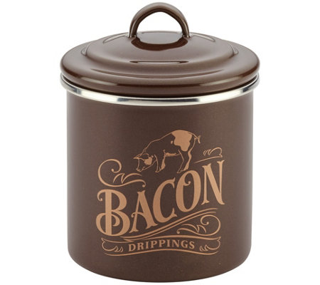 Ayesha Curry Home Collection Enamel on Steel Bacon Grease Can