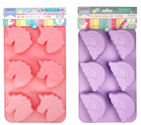 Handstand Kitchen Rainbows Unicorns Deluxe Cupcake Mold Set