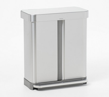Simplehuman 58l Stainless Steel Dual Compartment Step Can Qvc Com