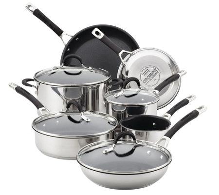 Circulon Momentum Stainless Steel Nonstick 11 Pc Cookware Set
