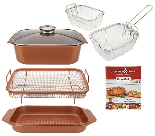 Copper Chef 7-piece 14-in-1 Wonder Cooker Cooking System