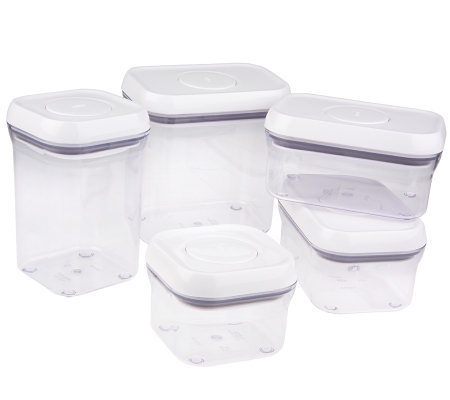 Oxo Set Of 5 Pop Airtight Amp Stackablestorag Containers