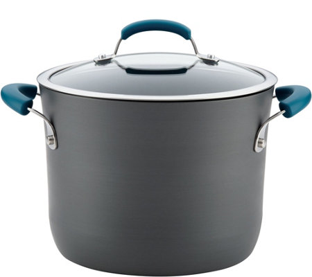 Rachael Ray 8-Qt Hard-Anodized Aluminum Nonstick Stockpot