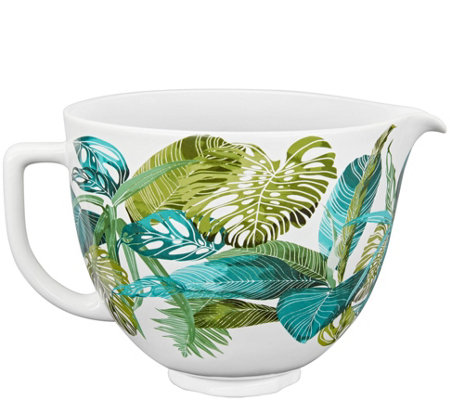 KitchenAid 5-Quart Ceramic Patterned Bowl- Tropical Floral