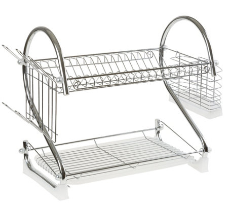 Chef Buddy Chrome 2-Tiered Dish Drying Rack