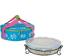 Temp-tations Old World Pie Plate with Tote - K45989