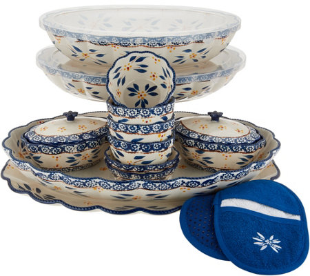 As Is Temp Tations Old World 17 Piece Bakeware Set
