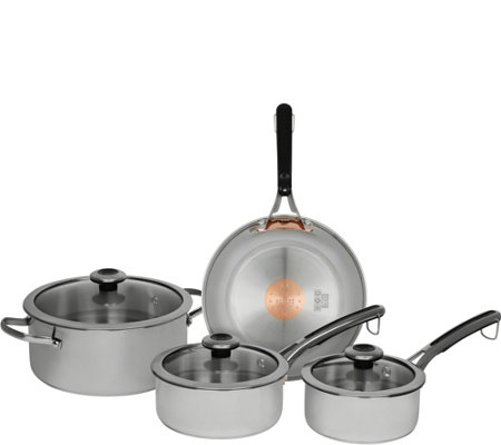 Revere Stainless Steel 7-Piece Cookware Set with Copper Core