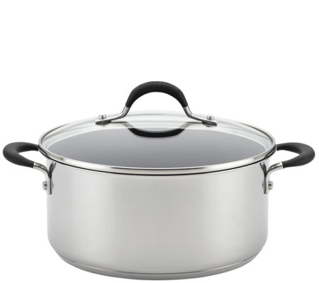 Circulon Momentum Stainless Steel 5 Qt Covereddutch Oven