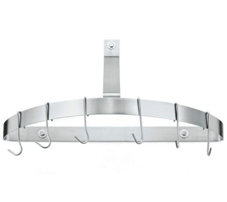 Cuisinart Half Circle Wall Pot Rack Brushed Stainless Steel