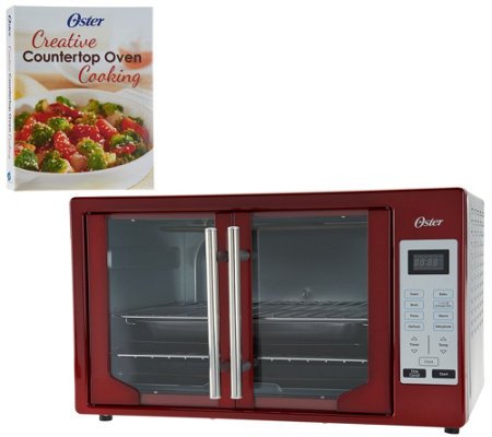 """As Is"" Oster XL Digital Convection Oven w/French Doors & Recipe Book"