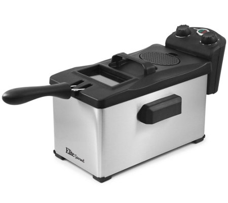 Elite Platinum Glass 3.5-qt Immersion Deep Fryer with Timer